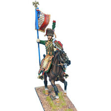 First Legion: NAP0532b French Imperial Guard Chasseur a' Cheval Standard - 1815