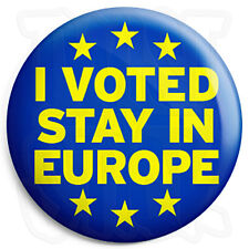I Voted Stay in Europe - UK EU European Union Referendum - 25mm Button Badge