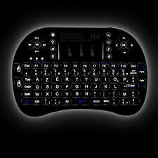 Rii Mini i8+ Wireless (AZERTY) Mini Clavier Française Rétro-éclairé Ergonomique