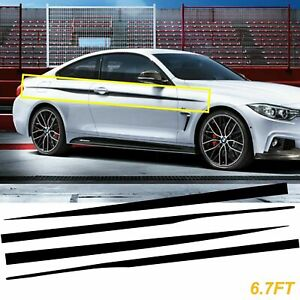 Black Side Skirt Door Body Vinyl Decal Strip Stickers fit for BMW Coupe/Sedan