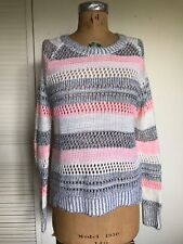 URBAN OUTFITTERS Marled Open Knit Stripe Women's Sweater Multi SPARKLE & FADE M