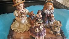 Boyds Dollstone Mib Sarah & Heather W/Elliot Dolly & Amelia Tea For Four