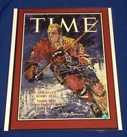 Bobby Hull Signed 1968 Time Cover 16x20 Photo PSA/DNA COA Leroy Neiman Chicago