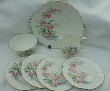 Vintage Roslyn China Sweet Romance - 7 Piece - Ribbons and Bows Plates Jug Bowl