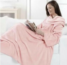 Brookstone Nap Comfy Pink Snuggie Blanket