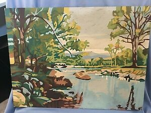 "Vintage Lake PAINT BY NUMBER Painting Wall Art  ""SPRING AWAKENING""  12 X 16"