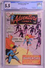 Adventure Comics #381 CGC 5.5 White 1st Supergirl Solo book Batgirl app. DC 6/69