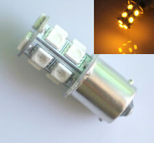 2x Amber/Yellow 1156 R10W BA15S 13 LED 5050 SMD Car Tail Turn Signal Light Bulb