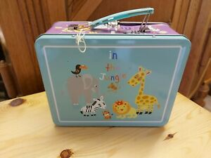 In the Jungle Childs Metal Lunchbox 20cm x 16cm x 9cm