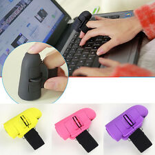 1Pcs Rosa USB Wireless Anelli dito mouse ottico 1600Dpi per PC portatile