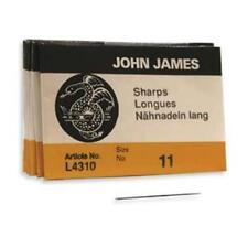 25 #11 John James SHARP English Beading Needles -  Fine SHARPS