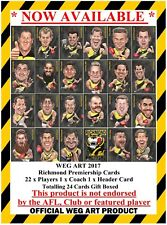 Richmond 2017 Premiership Weg Art Cards FREE POST IN AUSTRALIA
