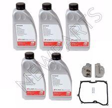 For Audi TT VW Beetle Set of 5 Liter Auto Trans Fluid+Filter Kit Febi/CRP