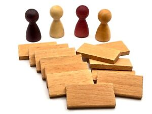 Quoridor Game Replacement Pieces, Wood Fence, Wood Pawns - Choose What You Need