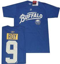 Buffalo Sabres Derek Roy Reebok Royal Blue Buffalo T Shirt Closeout Medium