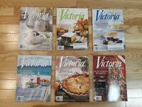 Victoria Magazine Back Issues 2009 Lot Of 6 full year