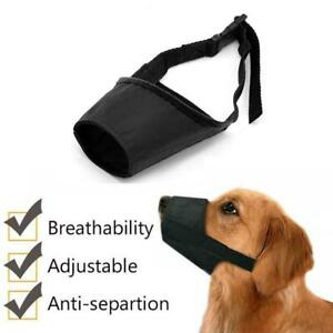 Adjustable Pet Dog Mask Bark & Bite Mesh Mouth Muzzle Grooming Anti Stop Chewing