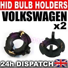 2x XENON HID BULB BASES HOLDERS H7 VW Touran & TDi