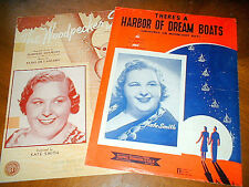 2 vint KATE SMITH SONGS  Harbor of Dream Boats &  Woodpecker's Song