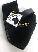 AWP Drill Holster w/ Black Leather Saddle Strap & Bit Holder, One Size Fits All