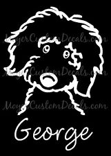 Personalized Golden Doodle Dog Decal Sticker You Choose Name & Color!