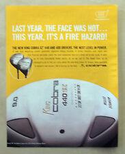 B515-Advertising Pubblicità-2004 -  KING COBRA SZ 440 DRIVERS GOLF