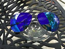 KeyWestSunglas men's Sol-Ray aviator sunglass'n AZUR BLUE-UV400-w/r Ban-Yan Case