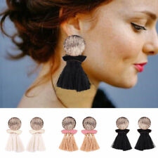 Fashion Women Tassel Drop Earrings Dangle Rhinestone Wedding Bohemian 5 Colors