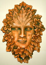 Vintage Season Girl Leaf Rose Face Wall Plaque Terracotta
