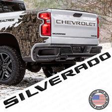 19-21 Gloss Black Silverado 1500 Tailgate Letter Logo Emblem Badge Z71 Lt Ltz
