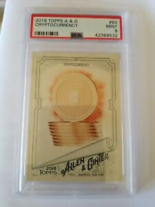 PSA 9 2018 Topps Allen & Ginter Cryptocurrency MINT bit coin btc ethereum doge