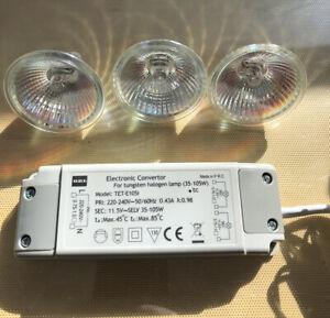 Elektronischer Halogen /Trafo 12V 35-105W Transformator Niedervolt Dimmbar 3er F