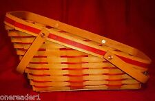1995 Longaberger Director Exclusive Red Christmas Basket - Signed by Dave - RARE