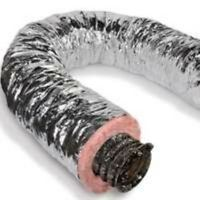 "Insulated Air Duct, 4"" x 25'"