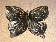 BEAUTIFUL DECORATIVE BRASS BUTTERFLY TRINKET / JEWELLERY DISH - COLLECTABLE!