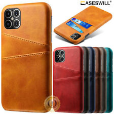 For iPhone 11 Pro X XS Max XR 8 7 6S Plus SE Leather Card Slot Wallet Case Cover
