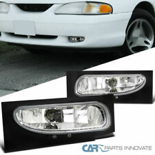 Ford 94-98 Mustang V6 Clear Lens Fog Lights Front Driving Lamps Pair+Bulbs DEPO