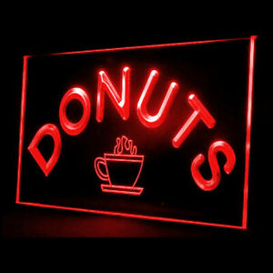 110028 Donuts Cafe Shop New Coffee Freash Bread DisplayLED Light Neon Sign