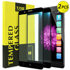 [2-Pack] TJS For ZTE Blade Z MAX Full Coverage Tempered Glass Screen Protector