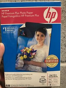 HP Premium Plus Photo Paper - High Gloss 4×6 (100 Sheets) - New - Sealed