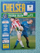 1998 - CUP WINNERS CUP SEMI FINAL 2ND LEG PROGRAMME - CHELSEA v VICENZA