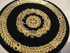 """VERSACE BY ROSENTHAL,GERMANY  """"GOLD BAROQUE"""" TRAY / ASHTRAY, 5 1/8 INCH."""