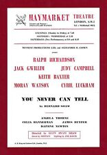 """Ralph Richardson """"YOU NEVER CAN TELL"""" Keith Baxter / Shaw 1966 London Flyer"""
