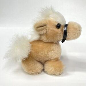 "Vintage Mini 6"" Russ Tan Pony Horse #237 Made in Korea Bean Stuffed Plush"