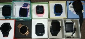 LOT of 10 Smart Watches Open Box 5 adult 5 kids GPS Bluetooth android iPhone