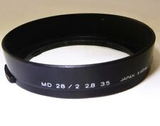 Minolta MD 28mm f2.0 f2.8 f3.5 Rokkor Lens Hood  manual focus Genuine 49mm rim