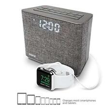 iHome Bluetooth Dual Alarm FM Clock Radio,Speakerphone and USB Charging