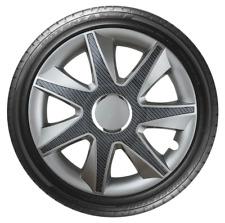 Ajuste de rueda de 15 Pulgadas Negro Carbón Set Conjunto de 4 Tapacubos Cubre [ejecutar Univers resultaran]