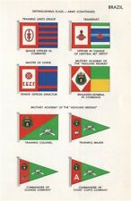 BRAZIL ARMY FLAGS Training units Transport Agulhas Negras Military Academy 1958