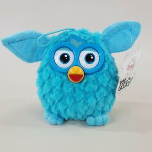 Furby Hasbro Plush Soft Hanging Toy 13cm Tall Light Blue Fur 2013 With Tag
